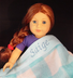 personalized name saige blue white plaid