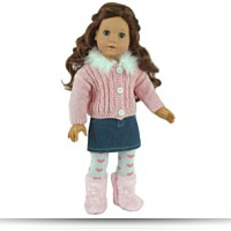 Buy Now 18 Inch Doll Clothingclothes 3 Pc Set