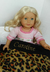 personalized name caroline leopard print blanket