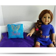 Buy Now Butterfly Embroidered Blue Fleece Pillow