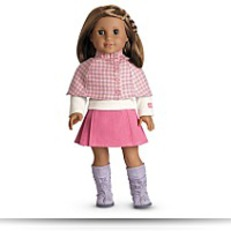 Cozy Plaid Outfit Charm For Dolls
