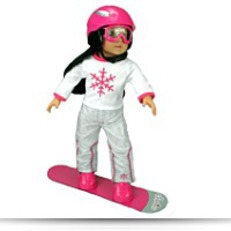 Buy Now Doll Snow Board Set Fit For 18 Inch Dolls