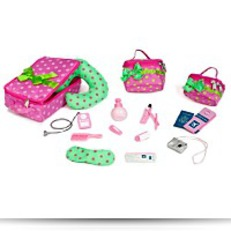 Luggage And Travel Set For 18 Dolls