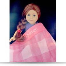 Save Personalized For Saige Pink Plaid Blanket