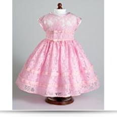 Vintage Pink Party Dress Fits 18 American