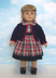 blue plaid dress cardigan sweater fits