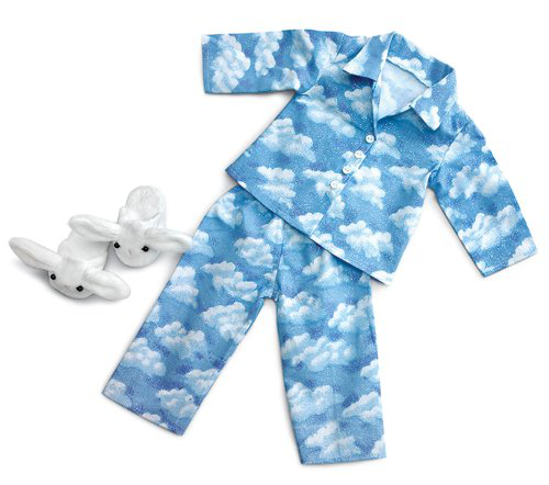 Clouds Pajamas With Bunny Slippers