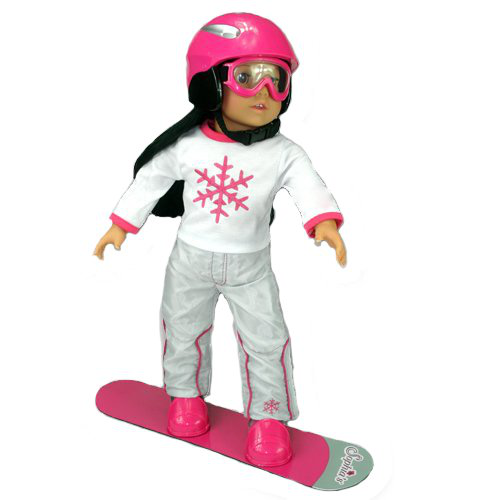 Doll Snow Board Set Fit For 18 Inch Dolls