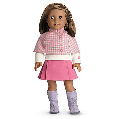 American Girl Cozy Plaid Outfit + Charm For Dolls